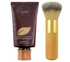 tarte Amazonian Clay Full Coverage Foundation--really really lasts and the brush is awesome!