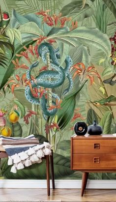 From bright botanical prints to stunning abstract designs, choose your perfect wallpaper from a vast collection. All wallpapers are made to your dimensions and printed onto a selection of high-quality wallpapers including peel and stick wallpaper - great for rented homes! Click to see the full collection...! #wallpaper #featurewall #marble #wallpaper #wallsauce #jungle #livingroominspo #homedecor #remodel Bright Wallpaper, Tropical Wallpaper, Botanical Wallpaper, Summer Wallpaper, Perfect Wallpaper, Wall Wallpaper, Botanical Prints, Amazon Wallpaper, Paradise Wallpaper