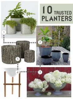 10 Planters to Brighten Your Garden/ via Design*Sponge   #Indoor_Garden #Herbs #Trinity_Realty #Whittier_Real_Estate #Whittier_Condos #Whittier_Homes_For_Sale - Trinity Realty and Investment at Whittier Real Estate ...