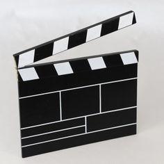 Clap de Film Bois / Décoration sur le thème du cinéma - 30cm - 9,50€                                                                                                                                                                                 Plus