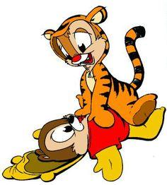 Chip 'n' Dale as Pooh 'n' Tigger