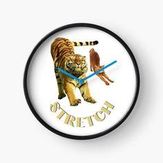 Small Cat, Stretching Exercises, Quartz Clock Mechanism, My Arts, Art Prints, Printed, Cats, Metal, Awesome