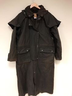 Details about MENS PREMIUM BUFFALO BROWN LEATHER DUSTER TRENCH ...