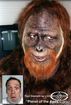 As Limbo, Paul Giamatti was nearly unrecognizable, thanks to Bill Corso's ape treatment as a key part of Rick Baker's Cinovation makeup team.