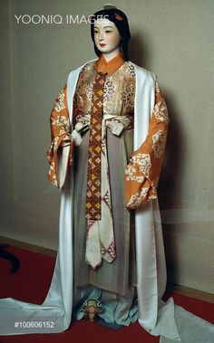 Ceremonial costume, Japan. Japanese Civilisation, Heian period, 8th-12th century.