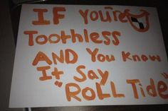 ESPN's College GameDay was in Auburn to catch the Iron Bowl, and there was no shortage of creative fan signs. This is technically true. College Gameday Signs, Espn College, College Football, Football Memes, Sports Memes, Alabama Vs Auburn, Alabama Memes, Ole Miss Rebels, Fan Signs