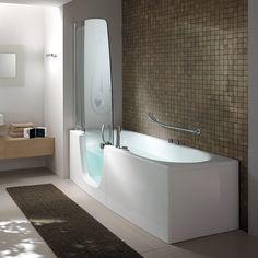 Kombinert badekar og dusjkabinett