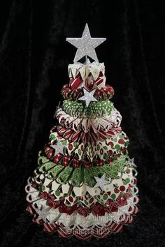 No instructions just the picture on Julianas obsessions: Christmas Stampin up Class projects
