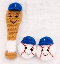 Free Crochet Pattern Baseball MLB Gift Baby