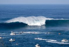 Visual da temida bancada de Jaws, na ilha havaiana de Maui (Foto: Bdu)