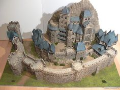 Wolfgang's Kurfuerstenburg Fantasy City, Fantasy Castle, Medieval Fantasy, Model Castle, Landscape Model, 3d Modelle, Building Concept, Wargaming Terrain, Lego Castle