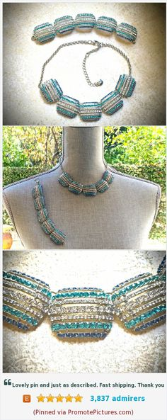 #Monet #Rhinestone #Necklace and #Bracelet #set-#Vintage https://www.etsy.com/JNPVintageJewelry/listing/555653302/monet-rhinestone-necklace-and-bracelet  (Pinned using https://PromotePictures.com)