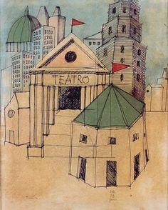 Aldo Rossi Aldo Rossi, Famous Architects, Architect Drawing, Architecture Photo, Architectural Drawings, Building, Sketches, Architectural Presentation, Modernism