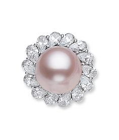 Cellini Jewelers - Pink Kasumiga Pearl and Diamond ring