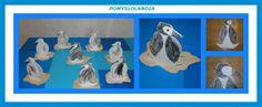 Pingwin z papieru : Kasieńka dzisiaj oglądała bajkę o PINGWINKU PINGU- bajka animowana produkcji szwajcarskiej. Postanowiła stworzyć pingwinka z papieru i od razu zabrała się do pracy. Pomogły jej w tym dzieci- 3 latki. ZOBACZCIE CO Z TEGO WYSZŁO Jak powstawał pingwin z papieru: - z szarej kartki papieru wycinamy kształt kry lodowej i kolorujemy białą kredką; -białą kartkę formatu A4 zaginamy na pół, rysujemy pingwinka i wycinamy-czubek głowy ma być na zgięciu;...