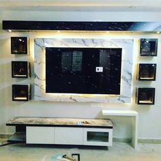 Image may contain: screen and indoor Lcd Wall Design, Lcd Unit Design, Modern Tv Unit Designs, Living Room Tv Unit Designs, Modern Tv Wall Units, Ceiling Design Living Room, Bedroom False Ceiling Design, Partition Design, Design Bedroom