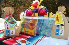 Goodie bags. Mexican party theme