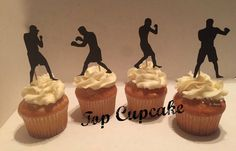 Boxing Inspired Cupcake Toppers by TopCupcake on Etsy