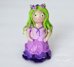 Fairy. Polymer clay figure. by MaryFurdey on Etsy