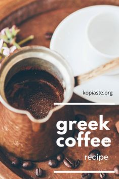 Greek coffee is one of the healthiest coffees in the world. It is well brewed with a frothy cream top. Learn all about Greek coffee and how to make it yourself. Vegan Gluten Free, Vegan Vegetarian, Greek Recipes, Coffee Recipes, Coffee Drinks, Brewing, Beverages, Make It Yourself, Cooking