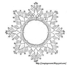 Best 12 crochet patterns in thread – SkillOfKing.Com - Her Crochet Crochet Snowflake Pattern, Crochet Motifs, Christmas Crochet Patterns, Crochet Snowflakes, Crochet Diagram, Thread Crochet, Crochet Doilies, Crochet Flowers, Crochet Christmas Decorations