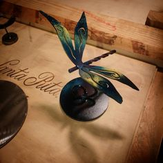 Little metal dragonfly
