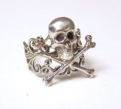 Steampunk PIRATE Ring Gothic Victorian by chinookhugs on Etsy
