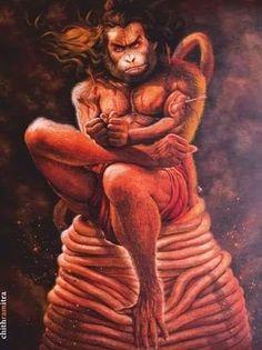 Lord Hanuman captured in Lanka,  #hindugod, #hinduism