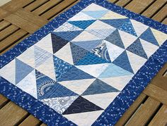 QUILTED TABLE RUNNER/Table Topper/Candle Mat/Table Cloth/Table