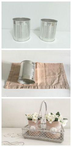 Fabric wrapped tin can basics 30dayflip