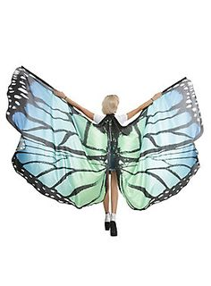 A festival look that'll turn heads // Blue Green Large Butterfly Wings