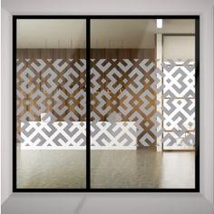 Da click! Vinilo Decorativo Esmerilado25 Glass Film Design, Frosted Glass Design, Frosted Glass Door, Glass Sticker Design, Window Design, Door Design, Glass Partition Designs, Wood Wall Design, Pattern Texture