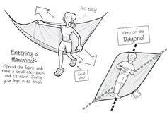 So you are thinking of sleeping in your hammock or camping with it?  Well, did you know that there is a better way to lay in it, when you sleep?  Try it! #Camping #Outdoors