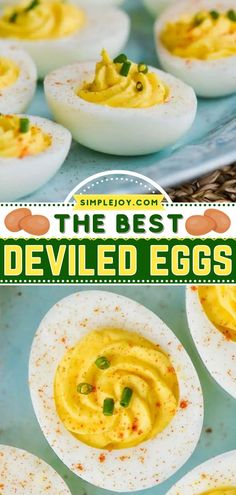 Want to stick with a classic crowd-pleasing appetizer recipe this football season? Here's a homegating recipe or tailgate food that won't disappoint! Thanks to a secret, these easy deviled eggs are the BEST. Make it ahead of game day! Jalapeno Deviled Eggs, Bacon Deviled Eggs, Deviled Eggs Recipe, Great Appetizers, Healthy Appetizers, Appetizer Recipes, Perfect Deviled Eggs, Cream Cheese Pinwheels
