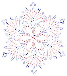 New Ideas For Crochet Christmas Ornaments Patterns Angels Crochet Happy New Year Crochet Snowflake Pattern, Crochet Motifs, Crochet Snowflakes, Crochet Diagram, Doily Patterns, Thread Crochet, Crochet Crafts, Knitting Patterns, Crochet Patterns