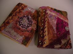 I need this book cover so I had better get busy. I ❤ crazy quilting & embroidery . . .  Embroidered and Beaded Crazy Pieced Needlebooks ~By Suziqu