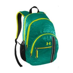 UA Charm City Backpack Bags by Under Armour One Size Fits All Jade River by Under Armour. $44.99. Heat sealed nylon fabric with unique wordmark emboss for extra style. Padded external laptop compartment offers extra protection for your computer while it's in your backpack. Large front-zip pocket and dual-side mesh pockets help you stay organized and keep essentials close at hand. Vinyl toiletry pocket with UA hair tie rings stores all your make-up must-haves separately an...