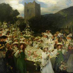 Art — Frank Bramley (1857–1915)The Grasmere Rushbearing