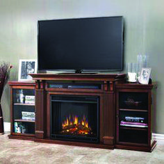 Cute fireplace tv stand amazon one and only homeeideas.com Electric Fireplace Media Center, Electric Fireplace Entertainment Center, Electric Fireplace Tv Stand, Entertainment Fireplace, Entertainment Centers, Ikea, Gel Fireplace, Fireplace Ideas, Mahogany Furniture