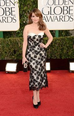 Tina Fey in L'Wren Scott at the 2013 Golden Globes