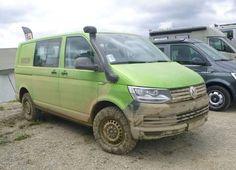 Afbeeldingsresultaat voor transporter vw off road camper Vw Transporter Van, Vw T5, Bus Camper, Camper Trailers, Vans California, Minivan Camping, 4x4 Van, Combi Vw, Offroad