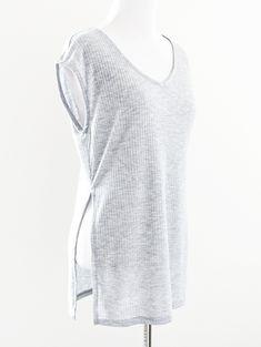 Tautmun - MENZA RIBBED TOP - HEATHER GREY, $12.99 (http://www.tautmun.com/menza-ribbed-top-heather-grey/)