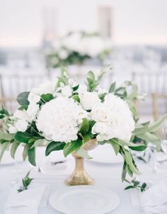 Santorini Set the Stage for a Modern, Minimalist Wedding We Adore Round Table Centerpieces, White Floral Centerpieces, Modern Wedding Centerpieces, Wedding Flower Arrangements, Flower Centerpieces, Wedding Bouquets, Wedding Decorations, Wedding Ideas, Free Wedding