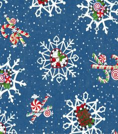 Holiday Inspirations Christmas Fabric-Mary Engelbreit Snowflakes Blue