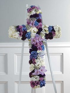 Funeral Cross With Flowers Lovely Wreath Stand Wi Sof F0054 Home