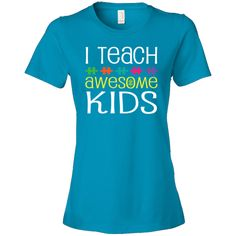 I LOVE this gift for special education teachers.  They are amazing, and the kids they teach are definitely awesome!  What a great way to support an extra hardworking teacher... Autism puzzle ribbon awareness for teachers comes on a Women's Fashion T-Shirts with I teach awesome kids quote for a special education teacher or a teachers aide. $24.99 www.personalizedteachershirts.com