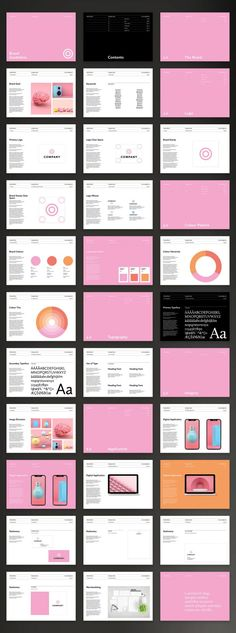 Adobe InDesign Brand Manual Guidelines Template with Pink Accents