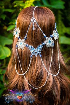 Butterfly Skies Circlet by BlingGoddessBoutique on Etsy