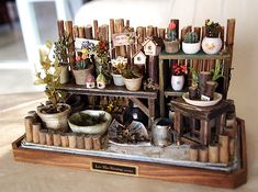 Your place to buy and sell all things handmade - Vintage small Garden Spring nature- Flower, Plants, Pot- Dollhouse Miniatures - Miniature Plants, Miniature Rooms, Miniature Houses, Miniature Furniture, Miniature Gardens, Fairy Gardens, Minis, Fairy Furniture, Planting Flowers