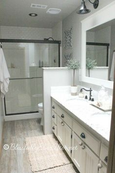 Undermount long sink with two faucets nice solution for for Second bathroom ideas